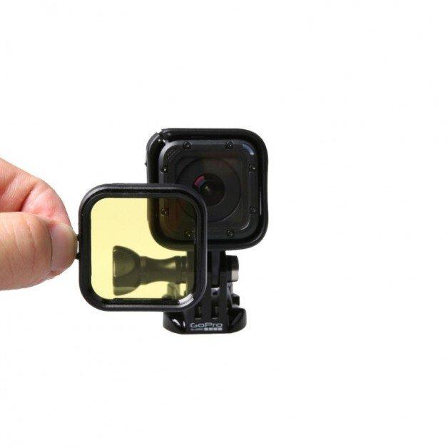 Färgfilter till GoPro Hero4 Session för dyking - Gul