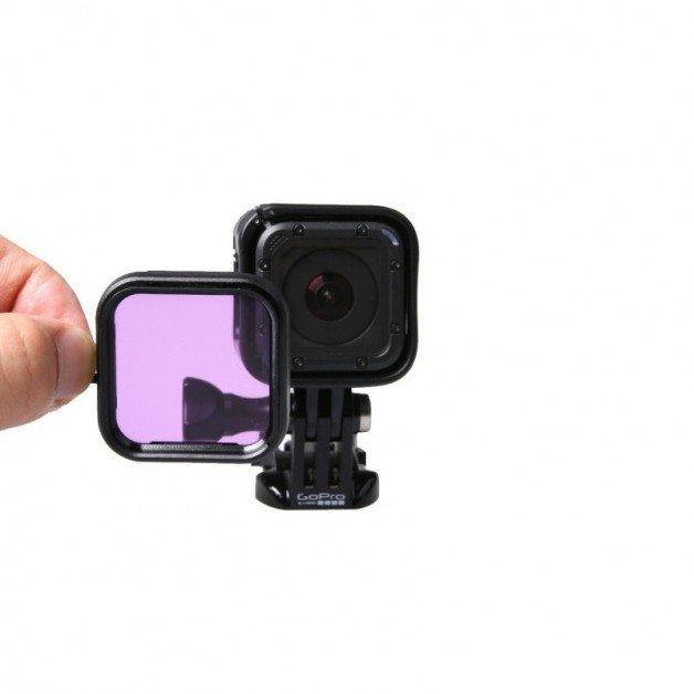 Färgfilter till GoPro Hero4 Session för dyking - Lila
