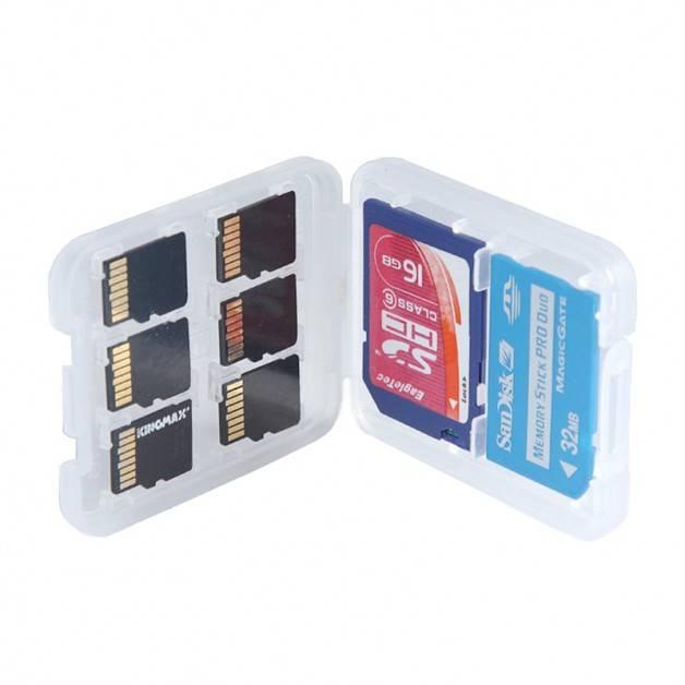 Förvaringslåda för minneskort 8i1