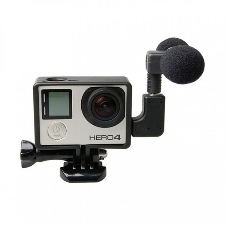 Extern Stereo-Mikrofon till GoPro med vinklad adapter