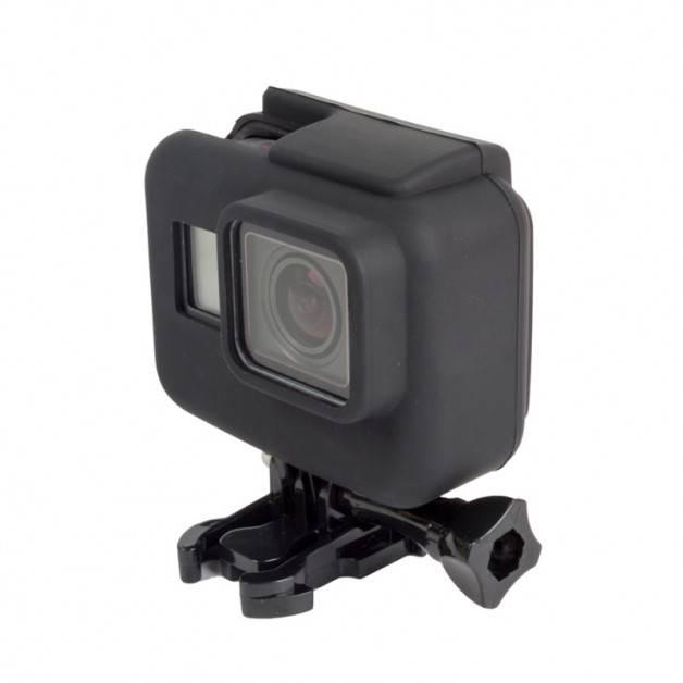 Silikonskal till GoPro Hero5 i skyddsram - Svart