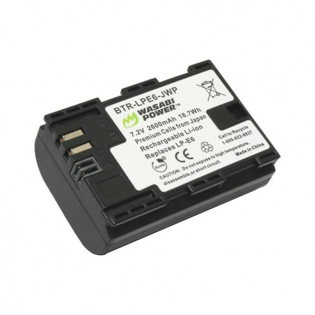 Wasabi Power Batteri till Canon - ersätter Canon LP-E6 - 2600mAh