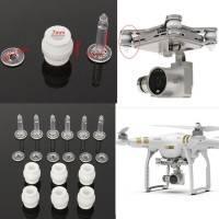 6-Pack Gummidämpare och fästplugg för Gimbal - Ersättning för Gimbal-dämpningen till DJI Phantom 3S / 3A / 3P - Kit