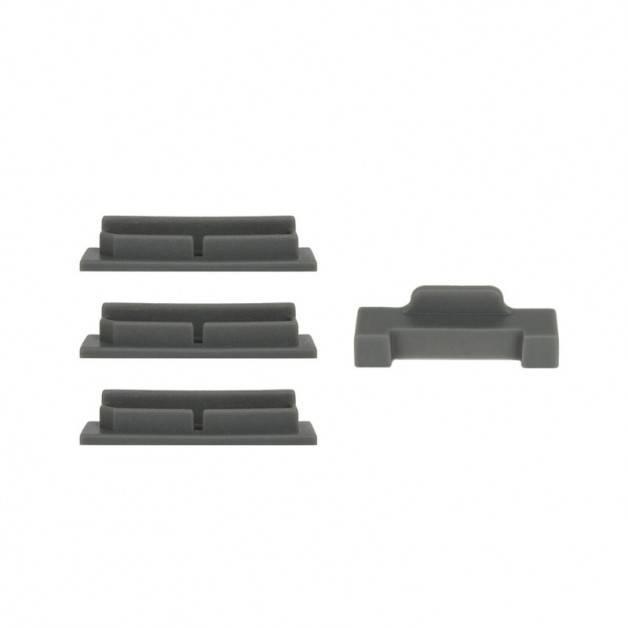 Skydd / Plugg för batterikontakter till DJI Mavic Air - Silikon - Grå - Kit