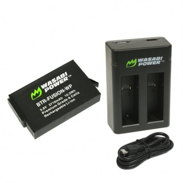 Wasabi Power Batteri och Batteriladdare - Dubbel - för GoPro Fusion - Paket