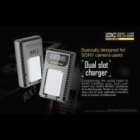 Nitecore Batteriladdare USN2 för Sony NP-BX1 batterier - Dubbel