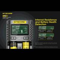 Nitecore UMS2 Batteriladdare, Intelligent USB-snabbladdare med QC2.0 - Dubbel