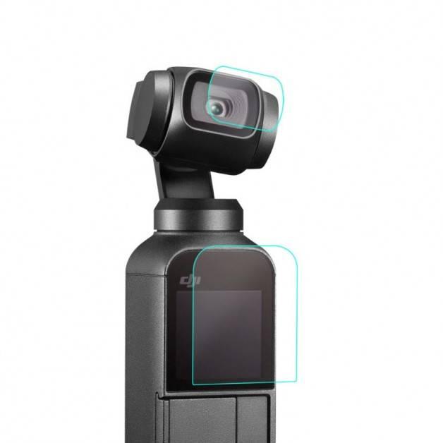 Skyddande film för kamera / bildskärm till DJI Osmo Pocket - 2-pack - Kit