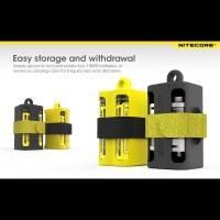 Nitecore NBM40 Batteriförvaring för 18650 batterier - Gul