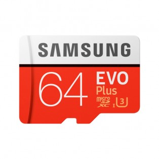 Samsung microSD EVO Plus 64GB (R100/W60 Mb/s) Minneskort SDXC