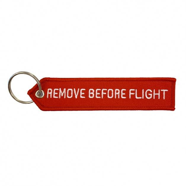 Nyckelband - REMOVE BEFORE FLIGHT - Röd/Vit Pil