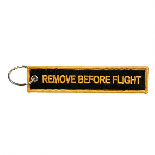 Nyckelband - REMOVE BEFORE FLIGHT - Svart/Orange