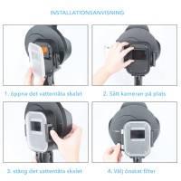 Dome Port till GoPro Hero5/6/7 Black - 10x förstoring / rött filter