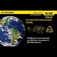 Nitecore NL166 Li-ion - RCR123 Batteri - 650mAh, 3,7V