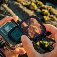 PolarPro Divemaster Filter Kit - GoPro Hero8 - Färgfilter för dykning till Hero8 Black i vattentätt originalskal - 3-pack