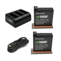 Wasabi Power Batteri och Batteriladdare - Trippel - för DJI Osmo Action - Paket