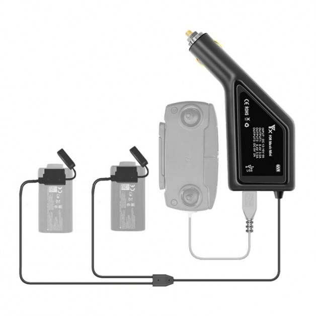 Batteriladdare för bil till DJI Mavic Mini - Dubbel