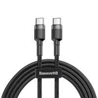 Baseus Cafule USB-C kabel PD 2.0 / QC3.0, 60W, 20v/3A, 1m - Svart