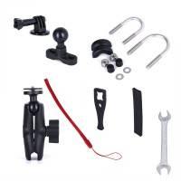 ActionKing fäste dubbelledad för rör, cykel, MC - 360 kulled - Kraftig - Aluminium - Kit