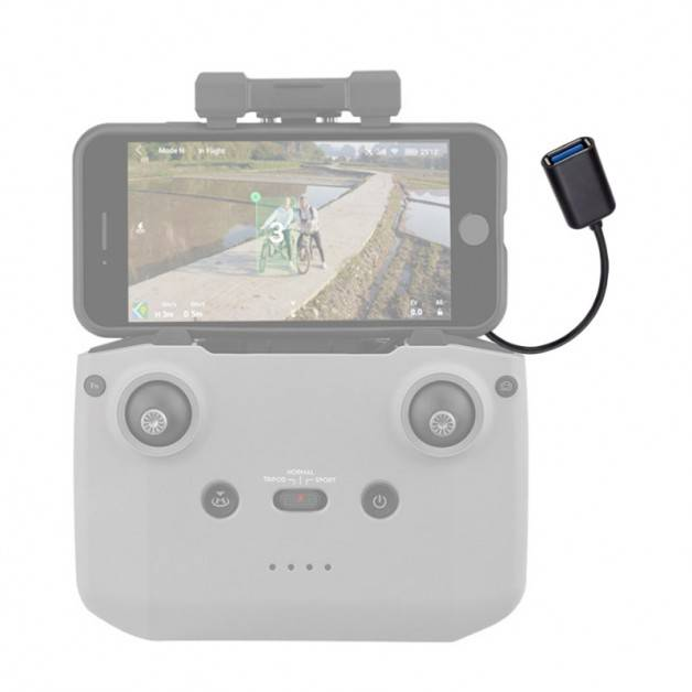 Adapter / Datakabel USB OTG för iPhone/Android till DJI Mavic Air 2 fjärr