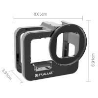 Puluz Skyddsram Vlog Aluminium med tillbehörshållare cold shoe och UV-filter till GoPro Hero9 Black