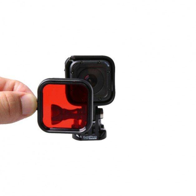 Färgfilter till GoPro Hero4 Session för dyking - Röd