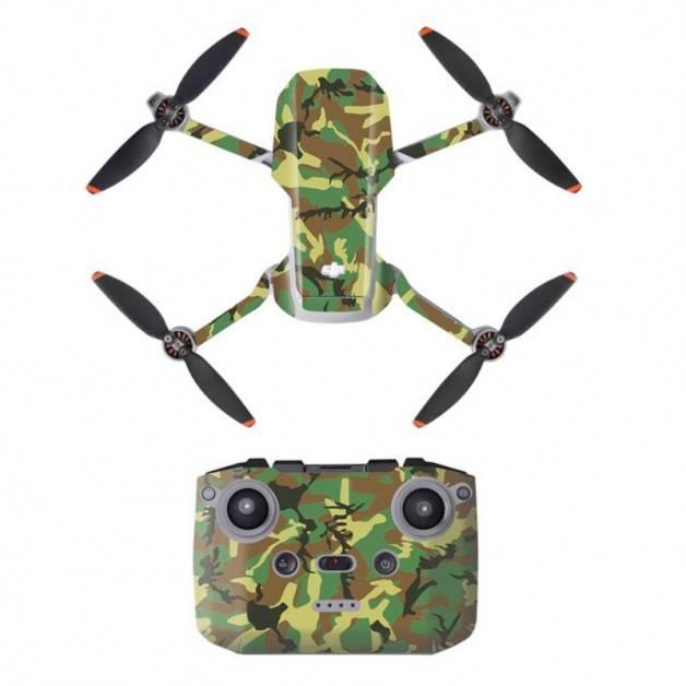 Klistermärke / Skin till DJI Mini 2 - Kamouflage Skog