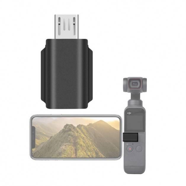 Mobiladapter för DJI Osmo Pocket 1/2 till Android - microUSB - 180grader