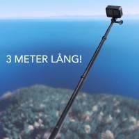 Telesin Handstativ - Selfiepinne Kolfiber 440-3000mm - V2.0