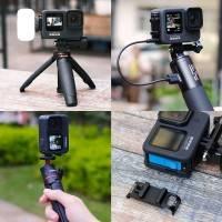 """Ulanzi G9-6 Batterilucka med cold-shoe, 1/4"""" gänga och genomföring USB till GoPro Hero9 Black"""