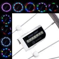 Belysning LED med 30 mönster till Cykelhjul / Ekrar