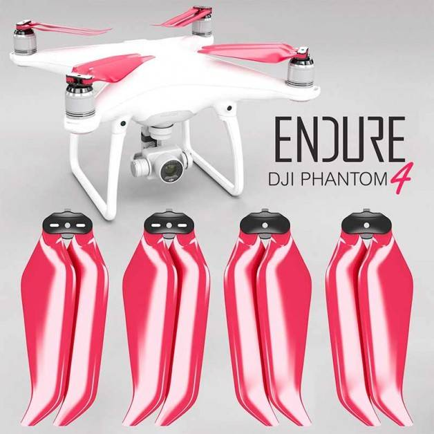Master Airscrew - DJI Phantom 4 Endure Foldable Propellers - Propeller till DJI Phantom 4 - Röd - Kit 4-Pack