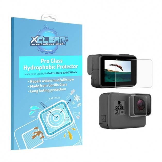 Xclear Pro-Repell Hydrophobic Protector - Hydrofobiskt Linsskydd och skärmskydd till GoPro Hero7/6/5 Black - Kit
