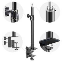 """ActionKing Stativ med 1/4"""" skruv, Bordsklämma 350-610mm - Aluminium"""