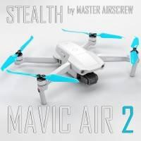 Master Airscrew - DJI Mavic Air 2 Stealth Upgrade Propellers - Propeller till DJI Mavic Air 2 - Röd - Kit 4-Pack