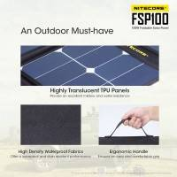 Nitecore FSP100 Foldable Solar Panel 100W - Portabelt Solpanel 100W