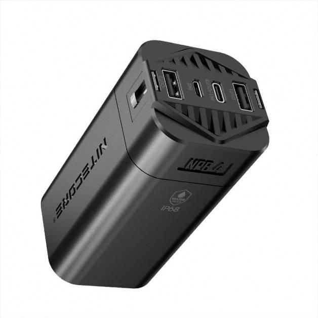 Nitecore NPB4 Power Bank - Portabelt Vattentätt Batteri - 20000mAh, 3xUSB Typ A/C, QC 3.0 / 18W, 5V, 3A