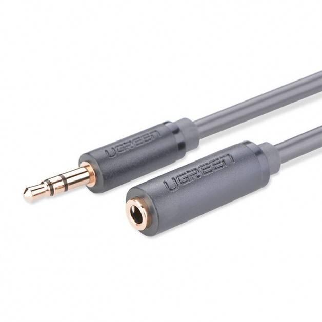 Ugreen AV124 Kabel Förlängning Ljud AUX 3.5mm Ha-Ho - 0.5m - Grå