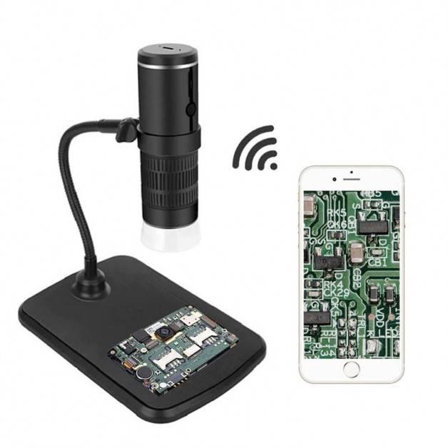 Digitalt Mikroskop 50-1000x WiFi, 1080P, 2MP, LED-belysning