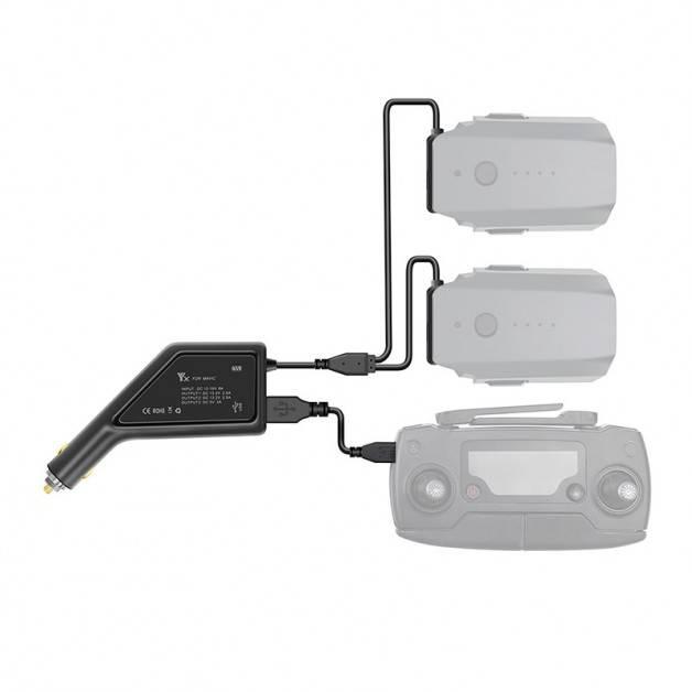 Batteriladdare för bil till DJI Mavic Pro - Dubbel