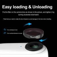 Telesin Filter 4-pack - ND8 + ND16 + ND32 + CPL till Insta360 GO 2 - Kit