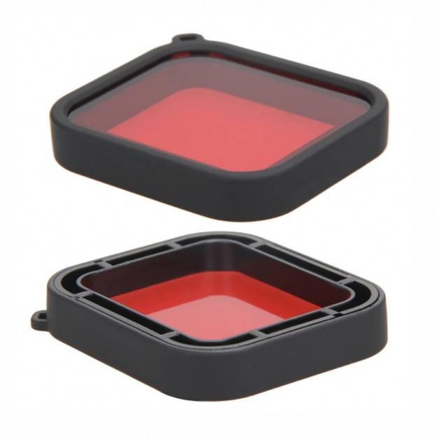 Färgfilter för dykning Röd - Hero5/6/7 i vattentätt skal